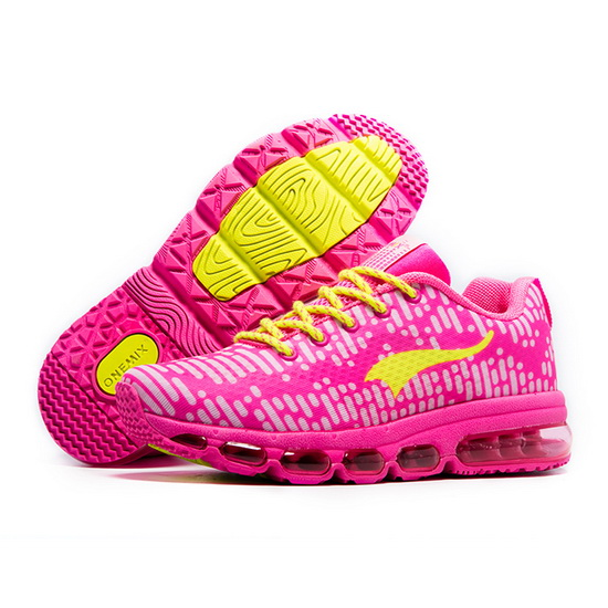 ONEMIX Neptune Pink/Yellow Breathable Running Women's Shoes