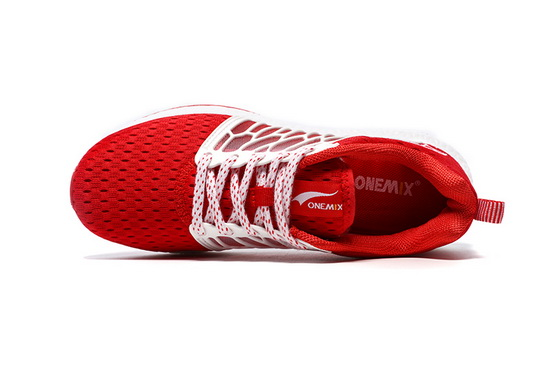 ONEMIX Lightwing Red/White Multicolour Unique Style Unisex Shoes