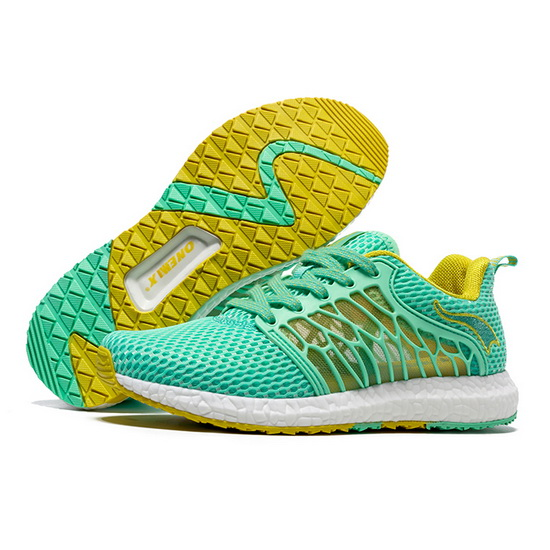 ONEMIX Lightwing Green/Yellow Travelling Lace Up Women's Shoes