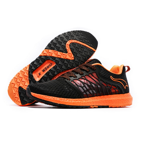 ONEMIX Lightwing Black/Orange Trekking Breathable Men's Shoes