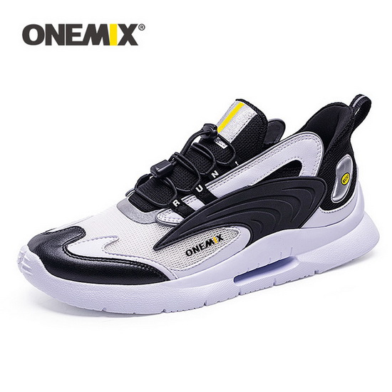 ONEMIX Uranus White/Black Breathable Athletic Unisex Dad Shoes