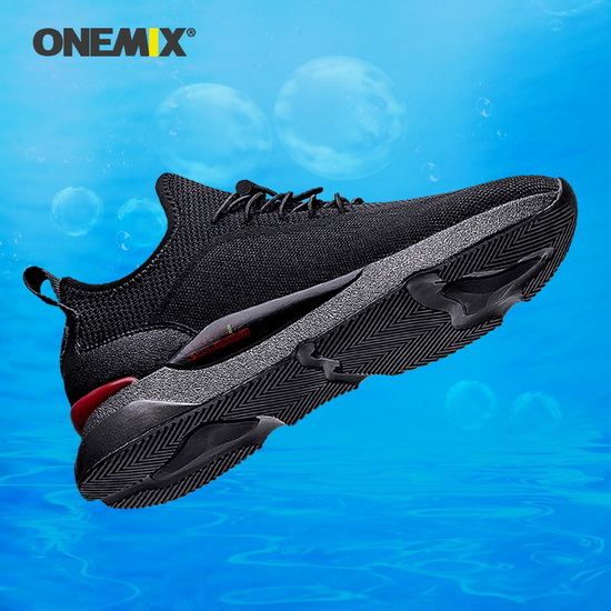 ONEMIX Equuleus Black Breathable Walking Men's Shoes