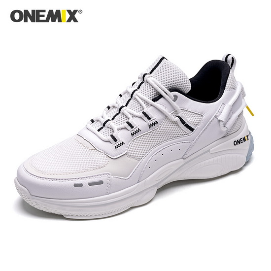 ONEMIX Lacerta White Walking Gym Sport Men's Dad Shoes