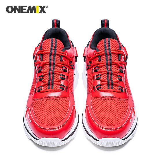 ONEMIX Lacerta Red Athletic Trekking Men's/Women's Dad Shoes