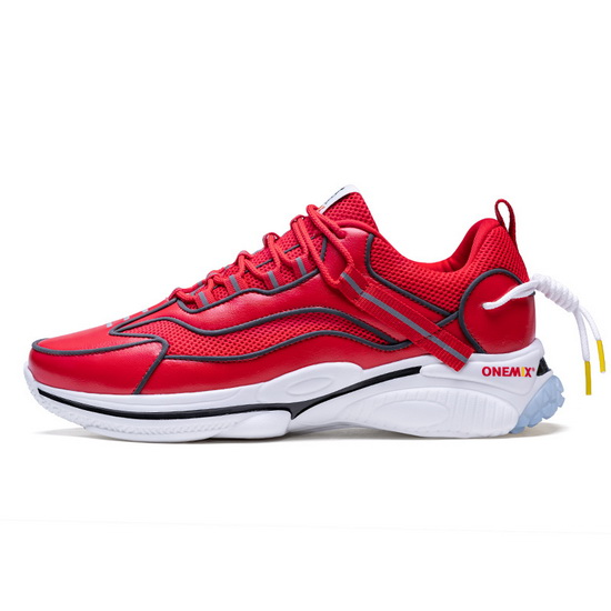 ONEMIX Monocers Red/White Outdoor Comfortable Women's/Men's Dad Shoes