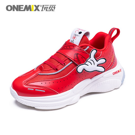 ONEMIX Leo Minor Red/White Athletic Trekking Kids Shoes