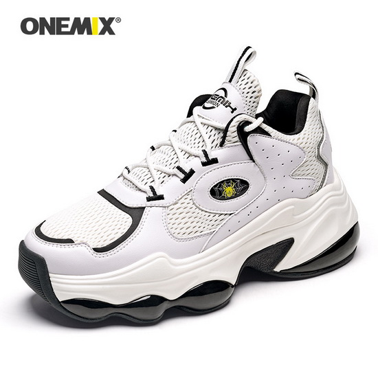 ONEMIX Colossus White/Black Breathable Travelling Unisex Shoes