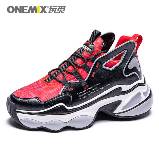 ONEMIX Sagittarius Red/Black/White Lifestyle Trekking Men's Shoes