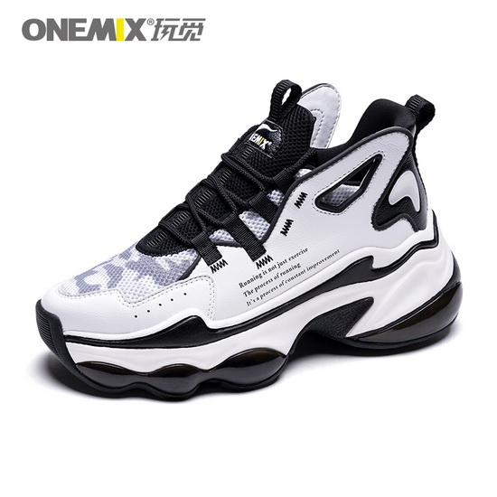 ONEMIX Sagittarius White/Black Comfortable Running Unisex Shoes
