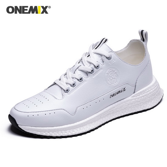ONEMIX Scorpius White Trekking Soft Leather Men's Shoes